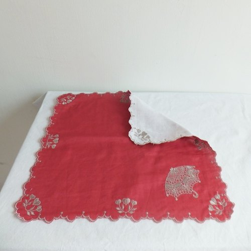 Lace Handkerchief   Embroidered Handkerchief : Parasol
