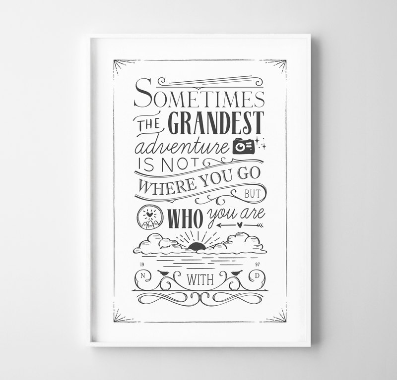Grandest adventure (2) Customizable posters