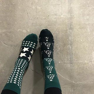 靴下スタークリスマス / irregular / socks / christmas / couple / pair / green