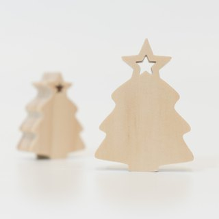 wagaZOO thick cut modeling building blocks natural series - Christmas tree