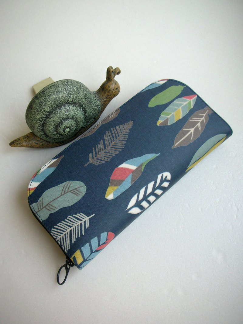 Feather root tarpaulin - long clip / wallet / purse / gift