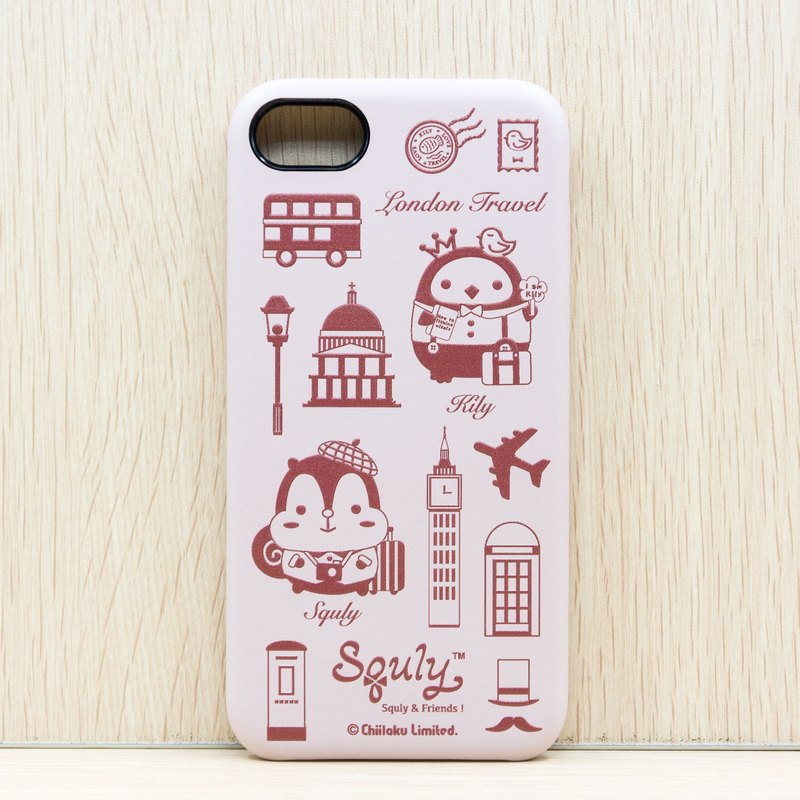 iPhone 7 PU Leather Back Case (London Travel) - G003SQE