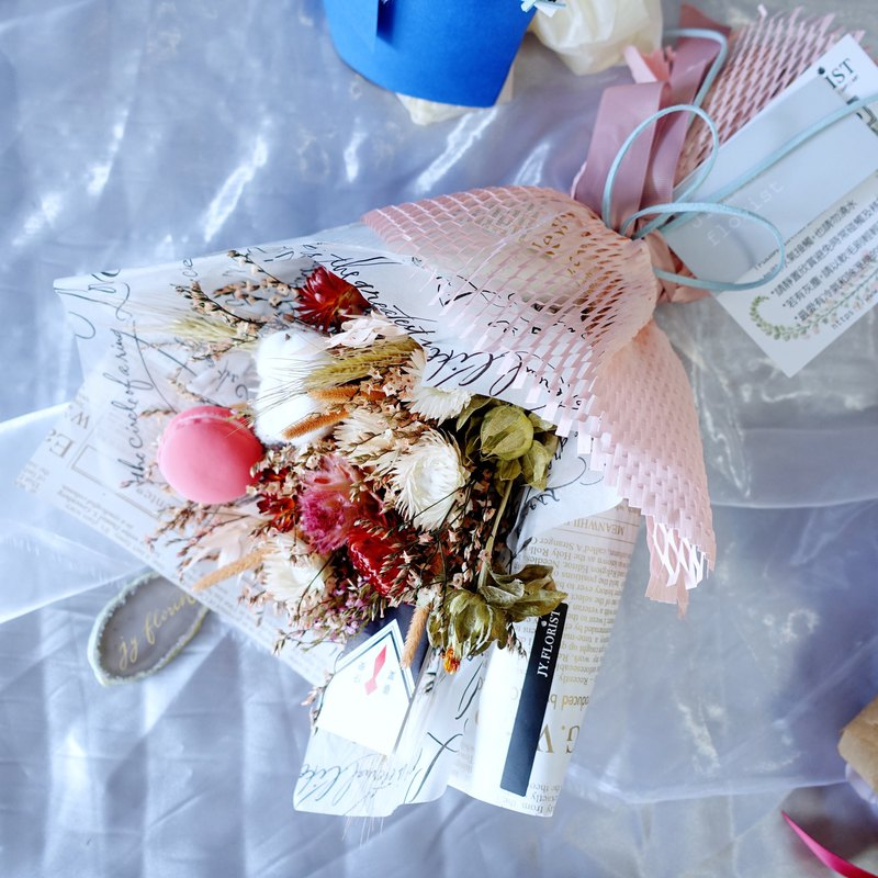 [2018 Graduation Bouquet]Honey Macaron Sweet Growth / Graduate / Dry Bouquet
