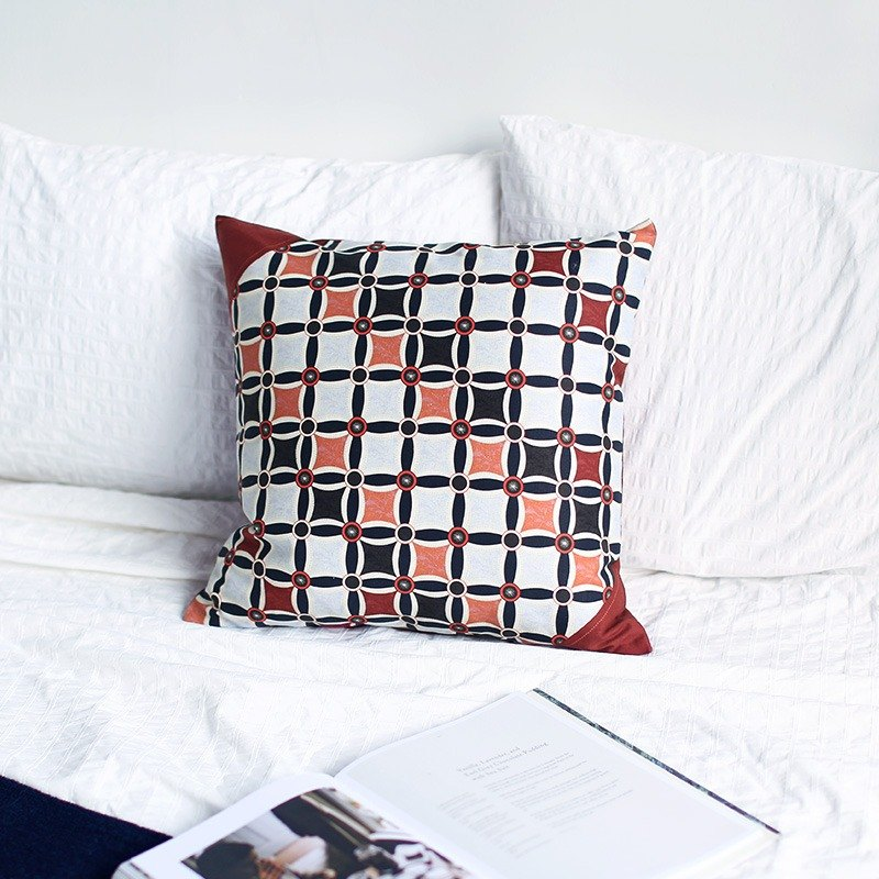 Small 憩 cotton and linen modern national retro simple Nordic Japanese original Chinese design pillow pillow cushion