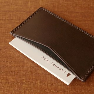 【受注生産】Business Card Case(slim-type)/olive×bluegreen