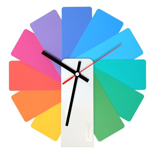 Czech Kibardin Variety Clock / Color Fan / White Body