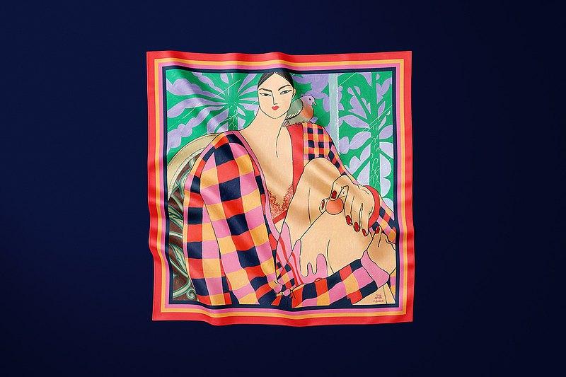 圍巾、披肩、緞子下午 6 點,Ping Hatta 與 Kevin 合影