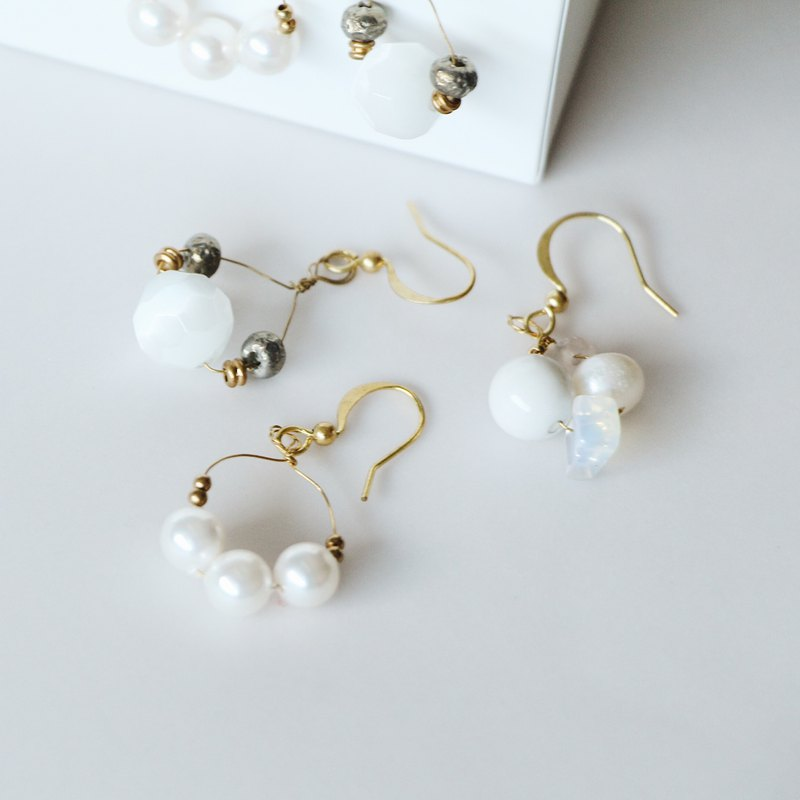 Febbi Crystal Pearl Morning Earrings