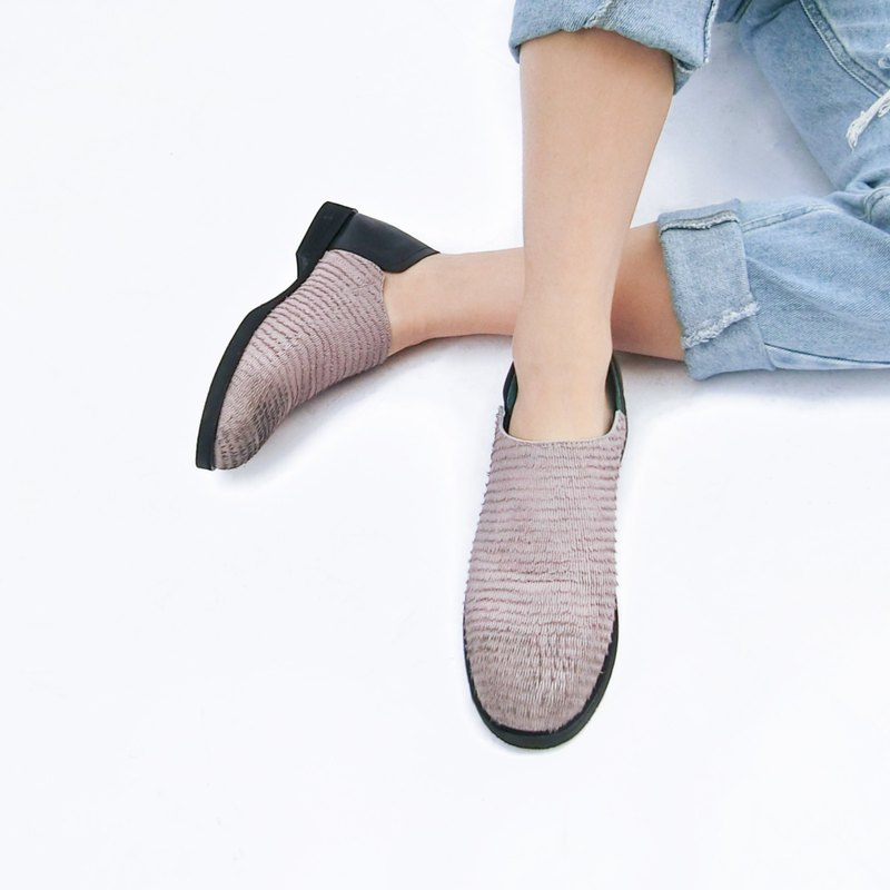 Two-tone leather flats ||San Francisco Daydream Fog || 8187