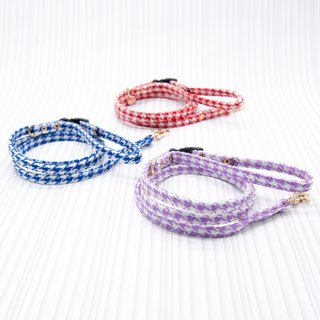 【Momoji】 Pet Leash - Houndstooth (L)