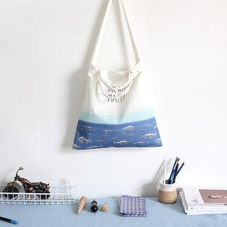 Colour-Up hand-painted series - we are friends print canvas bag