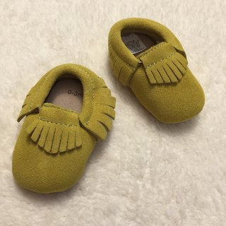 SanBelle Baby Fringed Moccasin Shoes ★Lether★0-18m Yellow