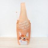 橘白貓咪杯套 環保飲料提袋 飲料提袋 飲料杯套 防水提袋