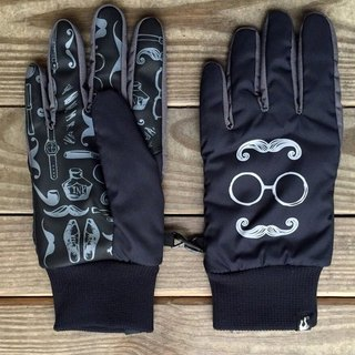 Mr. Beard - waterproof gloves _ reflective series _ black ash