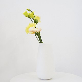Simple Nordic Wind Flower -Tall Cylinder (L) (White)
