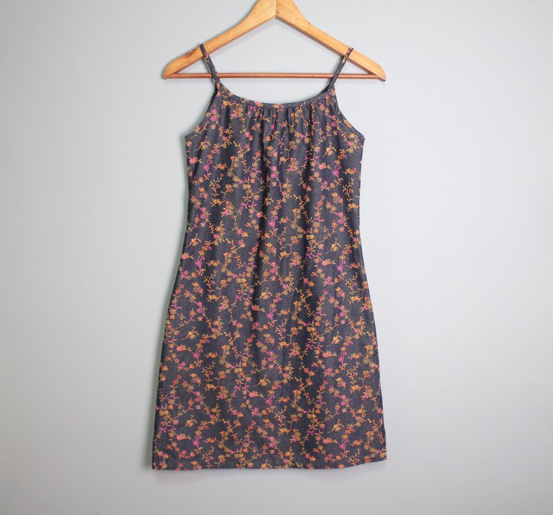 FOAK Vintage Summer Flowers Cowboy Dress