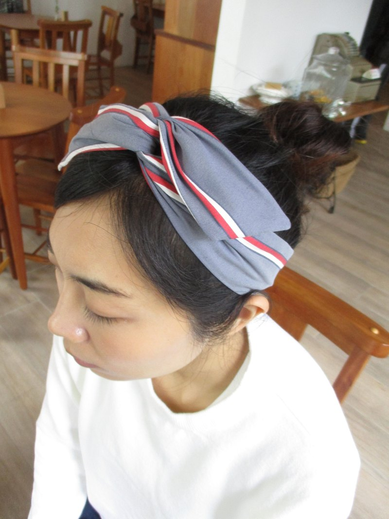 Turn the hair band (manual) - bow tie ears - the original blue
