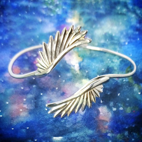 Flying Back to Back Wing 925 Silver Bangle