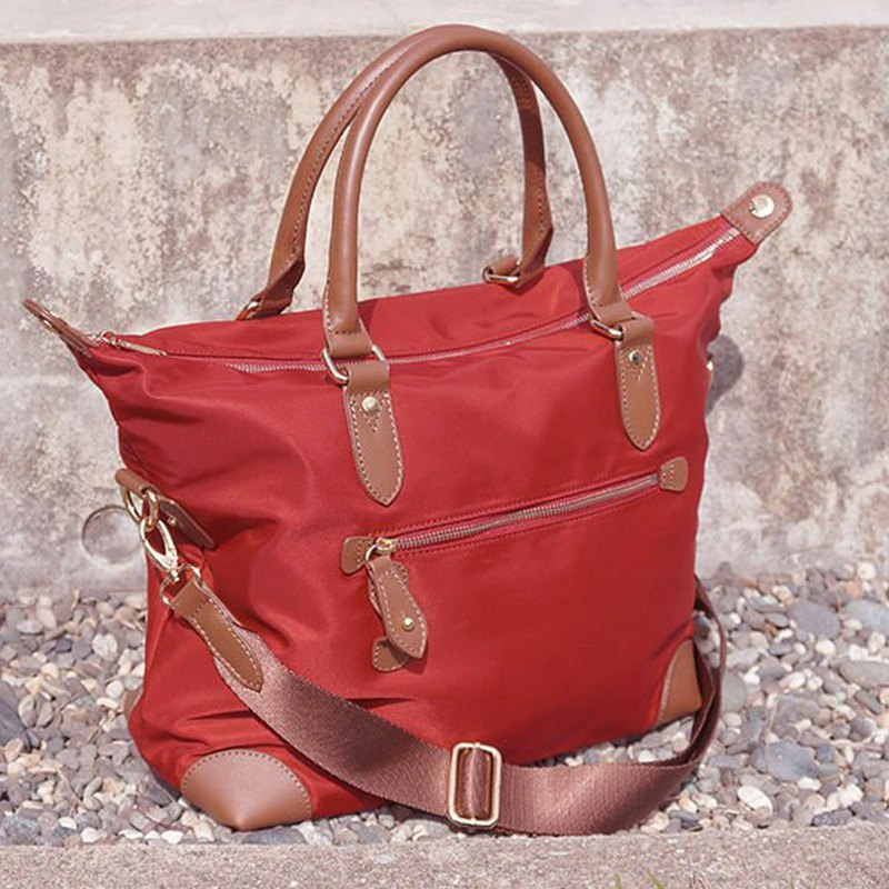 Lucy leather side backpack (without inner bag) [Red]