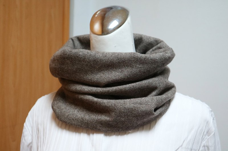 Warm collar short scarf neck sleeve double-sided color men and women are applicable*SK*