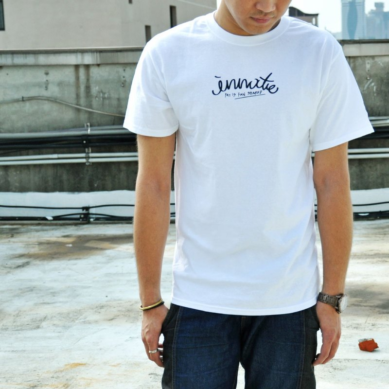 [] INNATE cursive logo Champion Short Tee