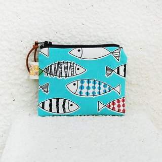 Colorful Fish Coin Bag_Blue