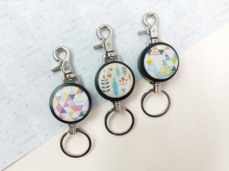 i good slip telescopic key ring - Shan Hailin series / plant illustrations Shuanglangshan Rose Garden _AYN