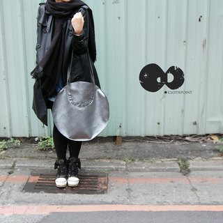 [Bag] embossed round package _ black silver lines