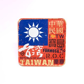 Taiwan Flag [Taiwan Impression Square Coaster]