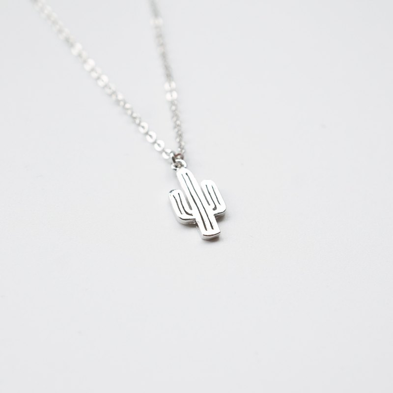 Silver Cactus Necklace - 925 Sterling Silver