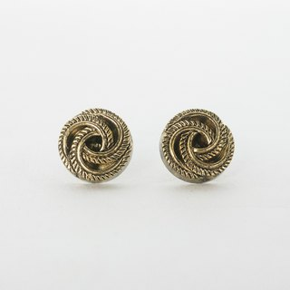 Circle dot Golden Spiral Stainless Steel Earrings Ear Clips 342