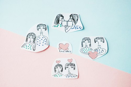 Cllare Stickers- Two-Man and Woman- Love -1
