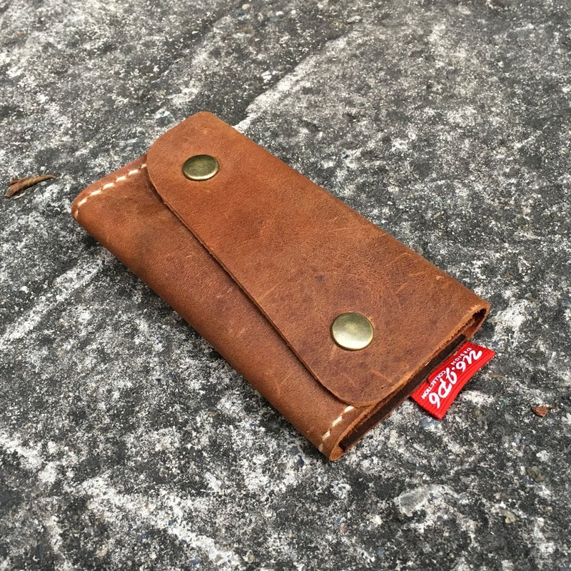 [] U6.JP6 handmade leather - hand-made leather sewing purse / card holder / card holder / Universal package (for men and women)
