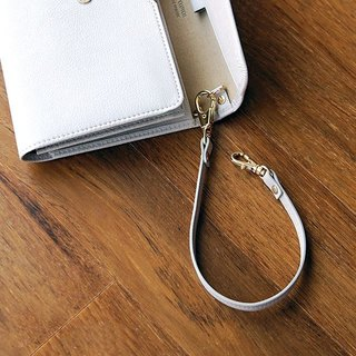 Plepic - Journey Holiday Double Buckle Leather Hand Strap (Wrist Rope) - Apricot Grey, PPC92832