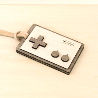 Wooden ID Card Clip- Straight-Retro Video Game Classic Red and White Electromechanical Play Leisure Card Activity Identification Card