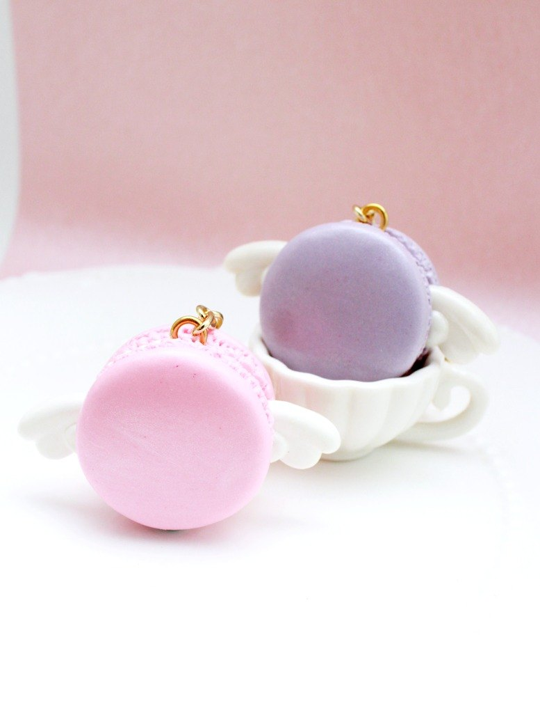 Angel ornaments Macaron key ring / Wedding Accessories / Christmas / birthday gift