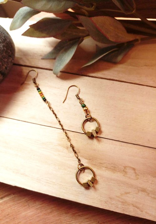Tanabata two-piece 20% off Traction traction ‧ earrings elegant ethnic style