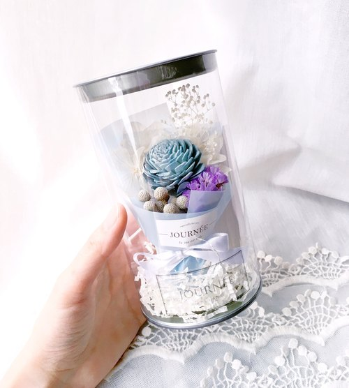Journee No. 3 Flower Pot - Paradise Blue Incense Card / Blue Dry Bouquet
