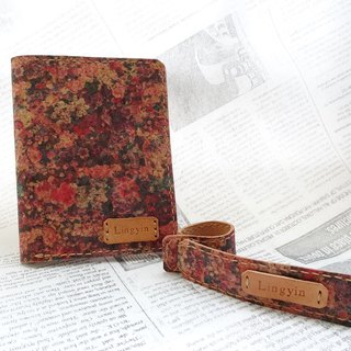 Custom Leather Passport Holder and Luggage Tag (Set) RED