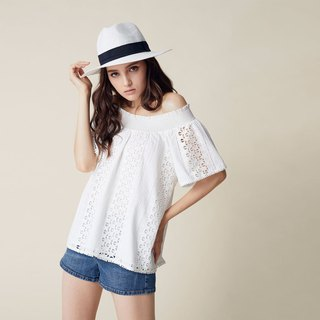 AEVEA Star Embroidered One-Piece Top