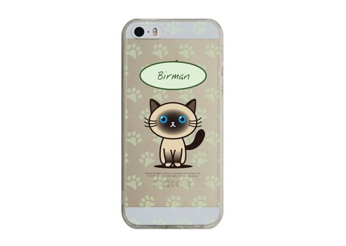 Custom Birman transparent Samsung S5 S6 S7 note4 note5 iPhone 5 5s 6 6s 6 plus 7 7 plus ASUS HTC m9 Sony LG g4 g5 v10 phone shell mobile phone sets phone shell phonecase