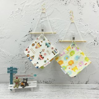 G19-soft soft gauze handkerchief (six-layer gauze) double-sided pattern crayons windmill car & line up pigs