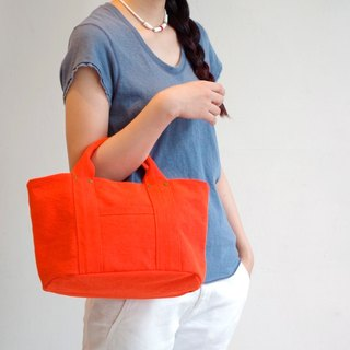 Kurashiki canvas Mini Tote 100% orenge