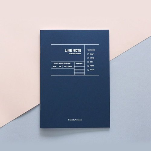 Funnymade Adults Plan A5 Ben - Line Notebook (Blue), FNM35529