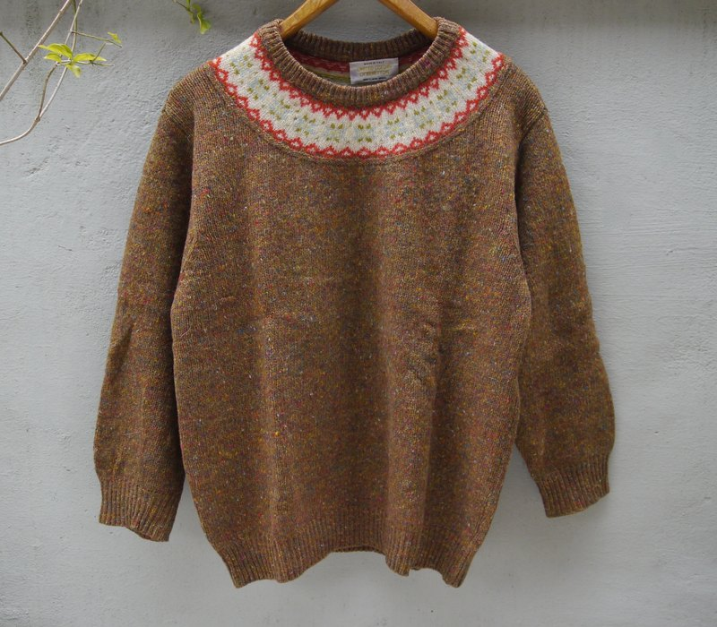 FOAK ancient past with Benetton Italian system Midlands Isle sweater