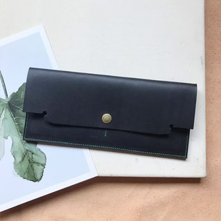 Edition style long clip _ ultra-thin minimalist 4 card layer _ double banknote layer (can be changed) _ black