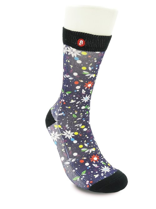 Hong Kong Design | Fool's Day stamp socks -Flying Flower 00057