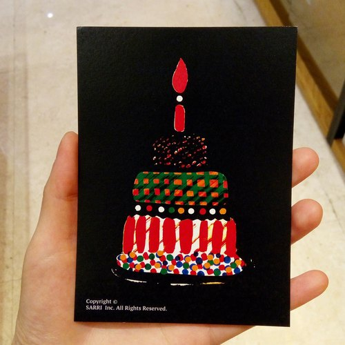 """Happy Birthday"" (Can make A3 size poster) Birthday Card Design Coloring Illustration Photo Album Card Universal Card Art Art Modern Lovers Love Special Interesting Weird Features Weird Cute Taiwan Yellow Fun Funny Eye-catching Tide Art Glitter F"