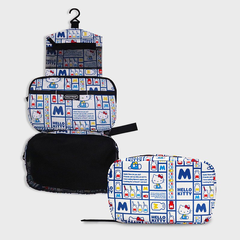 Murmur travel storage tri-fold wash bag | Hello Kitty milk bottle