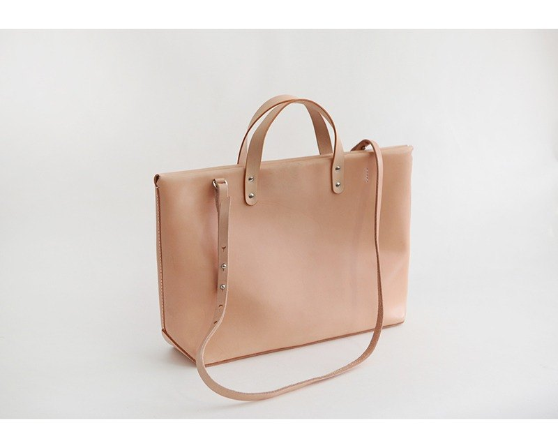 Leather shoulder leather simple male tote large capacity Tote bag female laptop bag